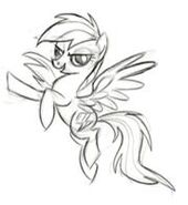 Rainbow Dash Development Sketch