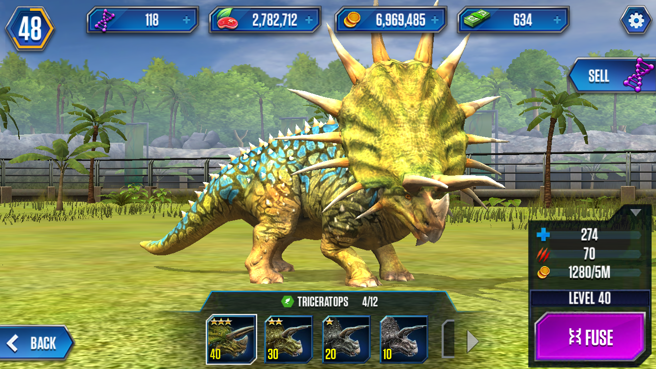 image triceratops stage 4 png ludia s jurassic world the game