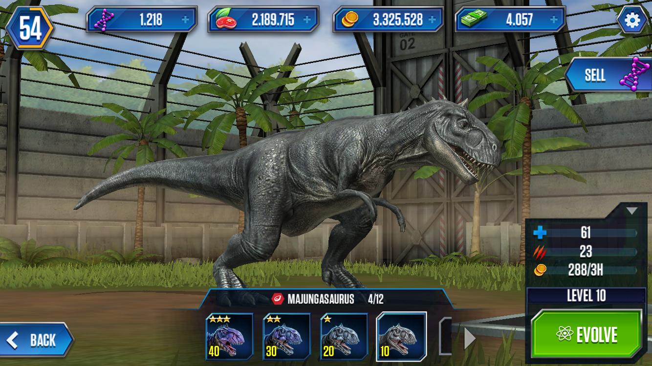 majungasaurus  ludia's jurassic world the game wikia