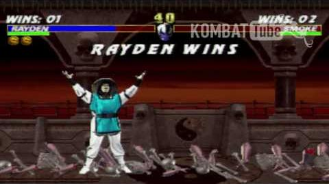 "Mortal Kombat 3 - Fatalities - Rayden - ""Thunder Punch"""
