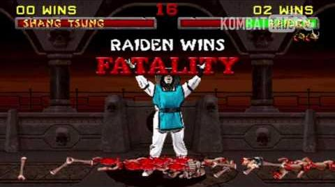 "Mortal Kombat II - Fatalities - Raiden - ""Lightning Uppercut"""