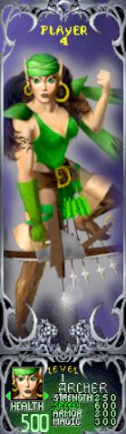 Gauntlet Dark Legacy - Green Archer (Player 4)
