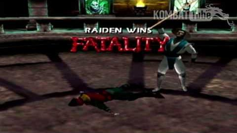 "Mortal Kombat 4 Mortal Kombat Gold - Fatalities - Raiden - ""Staff"""