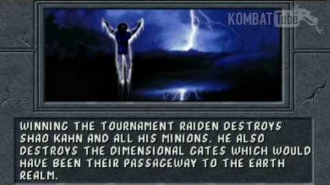 Mortal Kombat II - Endings - Raiden