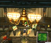 Luigi collects Dollar Bills