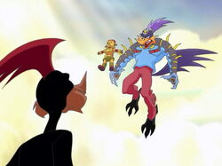 Loonatics evil kid brother road runner flying