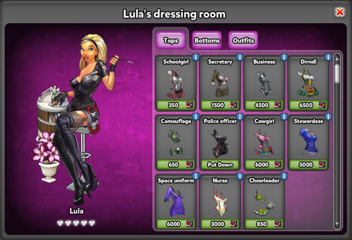 Lulas Dressing Room