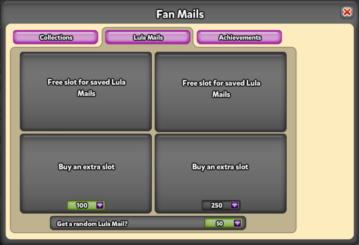 Lula Mail pop up