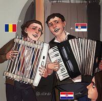Romania Serbia radiator