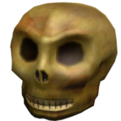 An unboxed Eerie Skull.