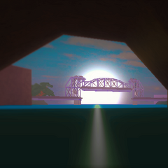 The Bridge as seen from inside the <i><a href=