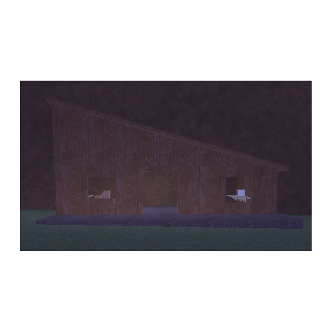 The shack in the legacy lighting