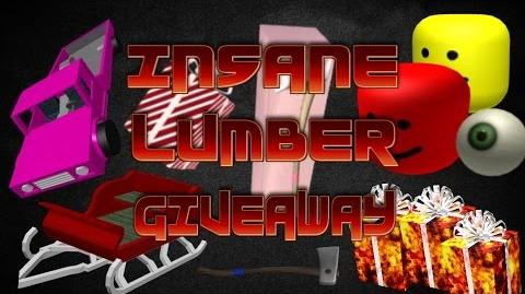 BIGGEST LUMBER GIVEAWAY EVER!! OVER 500,000 IN ITEMS! RAREST PINK CARS, GIFTS, AXES, AND MORE!