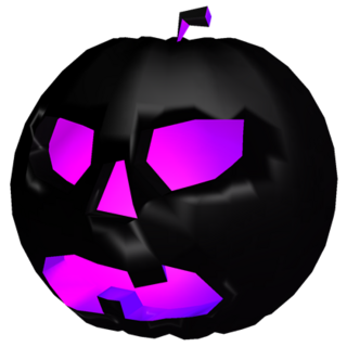 An unboxed Dark Pumpkin that was introduced during Halloween 2016.