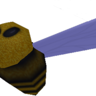 The bee used to pollinate flowers.