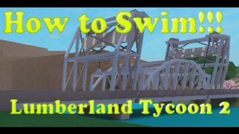 How to swim in ocean Lumberland 2 Roblox