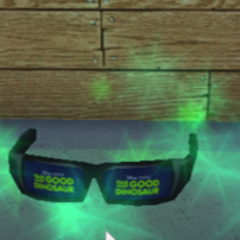 Glasses on the Wood R Us store