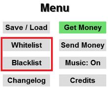 Whitelist Blacklist