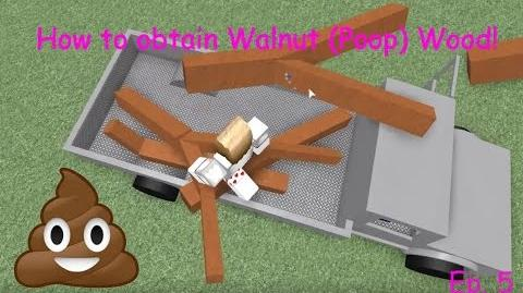 How to obtain Walnut (Poop) Wood - Lumber Tycoon 2 - Roblox