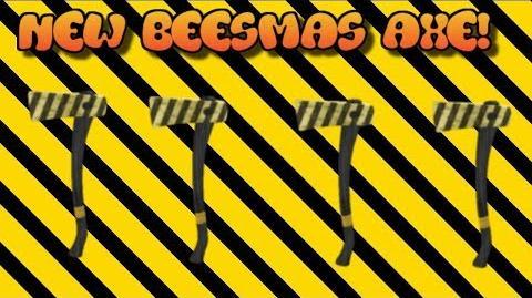 OMG! NEW BEESAXE! BEESMAS AXE REVIEW NEW AXE! HOW TO GET BEESAXE! LUMBER TYCOON 2