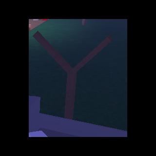 A small half-dead tree