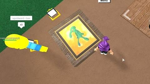 """Bold and Brash"" Shrine Squidward Painting Lumber Tycoon 2"