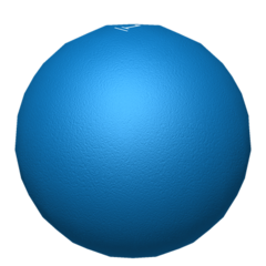 The Blue Ball, another ball that may potentially contain special numbers.