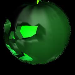 An unboxed Strange Pumpkin, the third of the Pumpkin series.