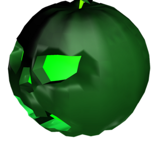 An unboxed Strange Pumpkin, the third of the Pumpkin series.