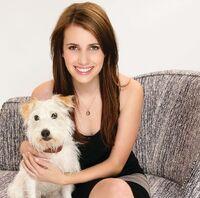 Emma Roberts and dog