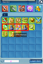 Skill menu