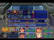Freeze Smash Menu