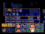 Blue Dragon Kick Menu