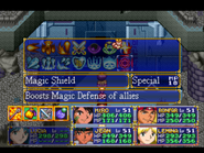 Magic Shield Menu
