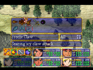 Freeze Claw Menu