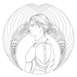 Coloring book character profile Jacin