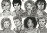 Main characters from The Lunar Chronicles by Ali art drawings