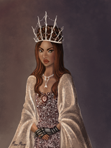 Royal Portrait of Queen Selene Channary Jannali by MoonMirage