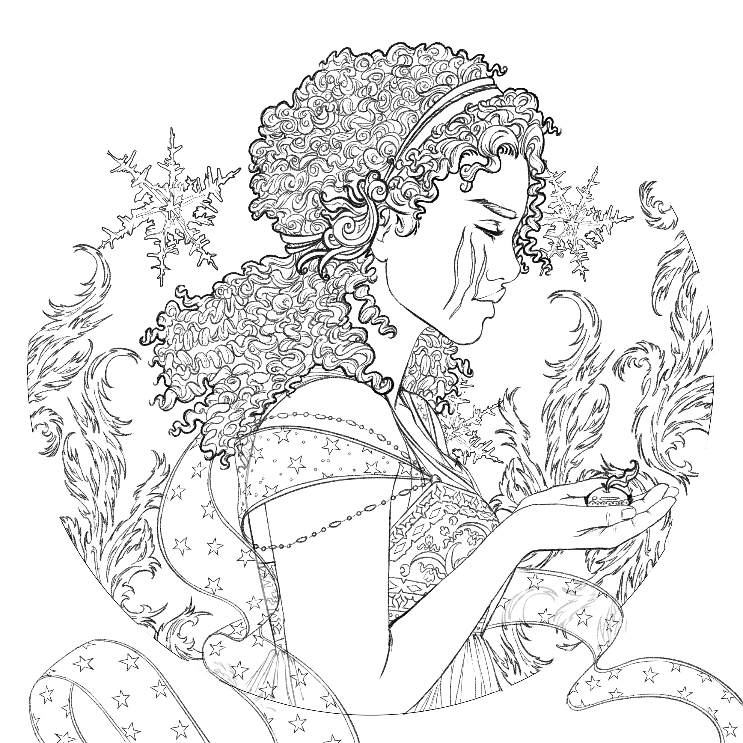 Image - Coloring book character profile Winter.png   Lunar ...