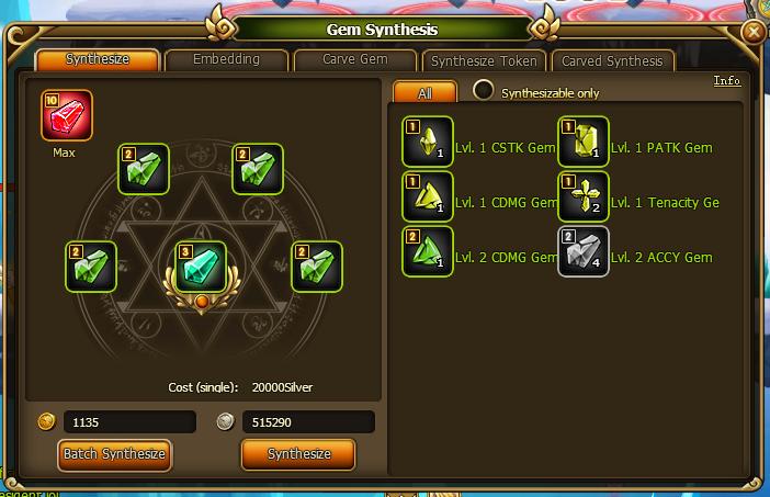 Gems synth