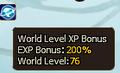 World EXP Level Bonus Server 39.PNG