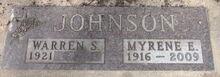 Warren & Myrene Johnson Grave