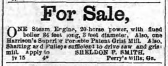 Newspaper - For Sale 1863