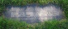 Grave - Max & Yvonne Crawford
