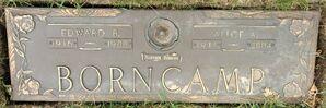 Edward & Alice Borncamp grave