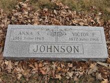 Anna & Victor Johnson Grave