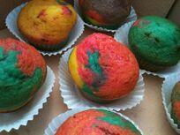 Muffins arc-en-ciel