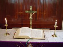 Altar and bible