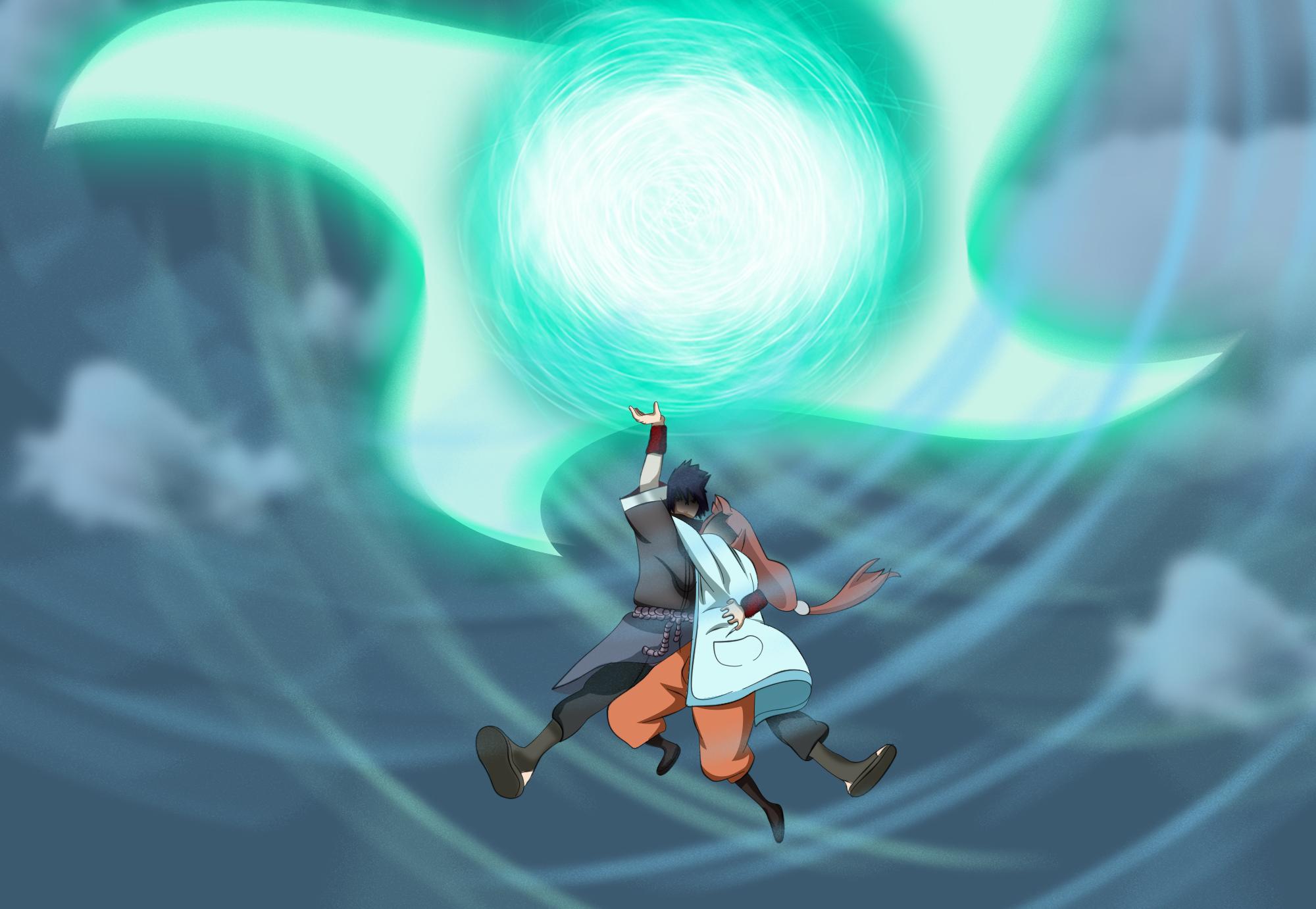 image shar usa el rasen shuriken gigante png lv naruto wikia