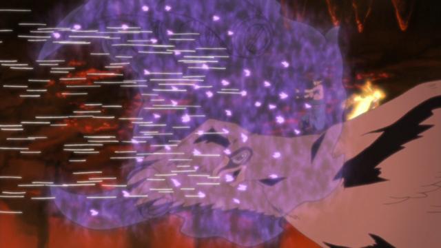 Sasuke defendendo-se